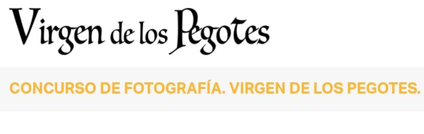 Concurso de Fotografía Virgen de los Pegotes