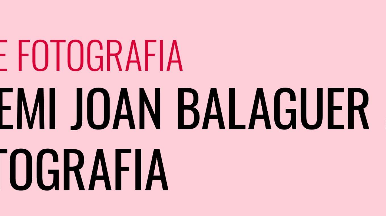 XX Premio Joan Balaguer Mulet de fotografía
